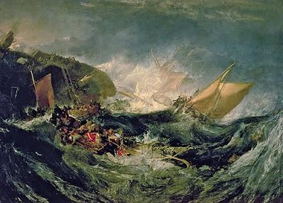 'Naufragio de un carguero' (1805-1810), de J.M.W.Turner