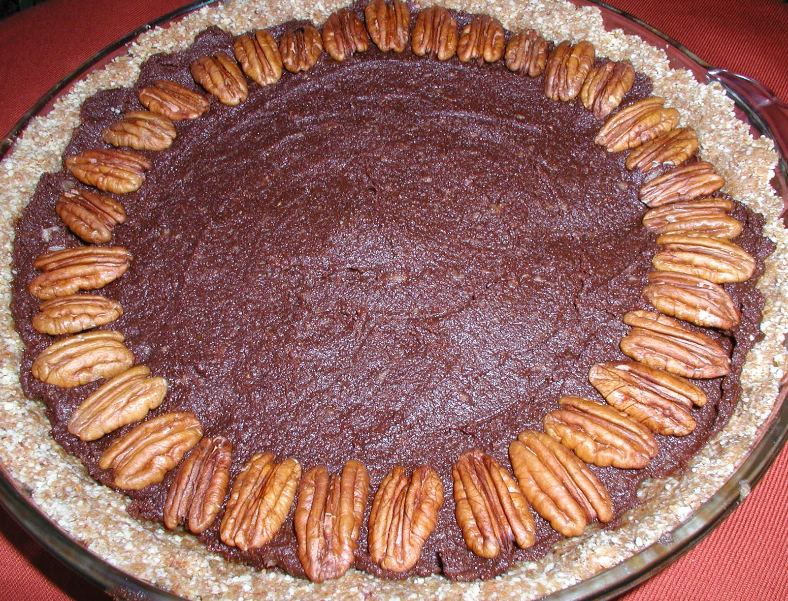 Raw German Chocolate Pecan Pie or Raw Chocolate Pecan Pie