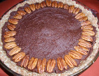 Raw German Chocolate Pecan Pie or Raw Chocolate Pecan Pie