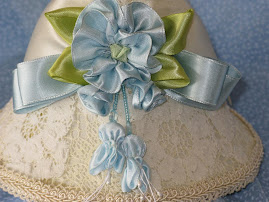 Blue party hat lamp shade