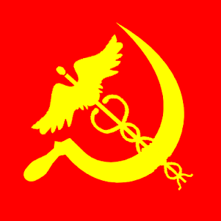 sickle and caduceus public socialized health care