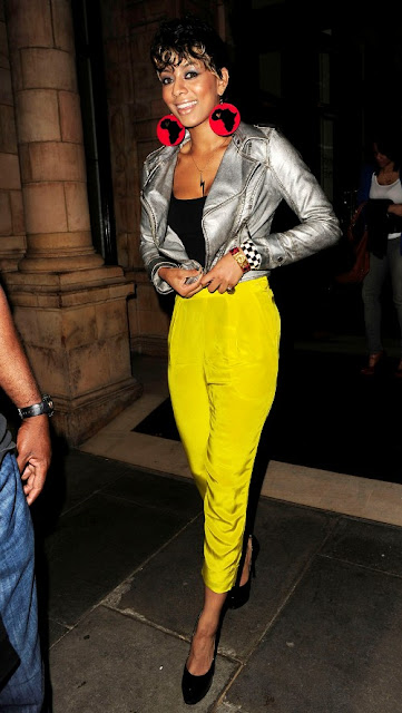 Keri Hilson In High Waisted Yellow Harems