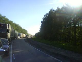 трасса М7 в районе Лысково, постоянные пробки!!