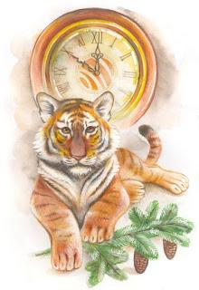 Поздравления к новому году тигр