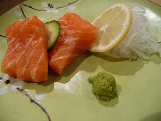 Saké-Sashi (sashimis de saumon)