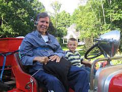 Pops and Cole on the Firetruck!