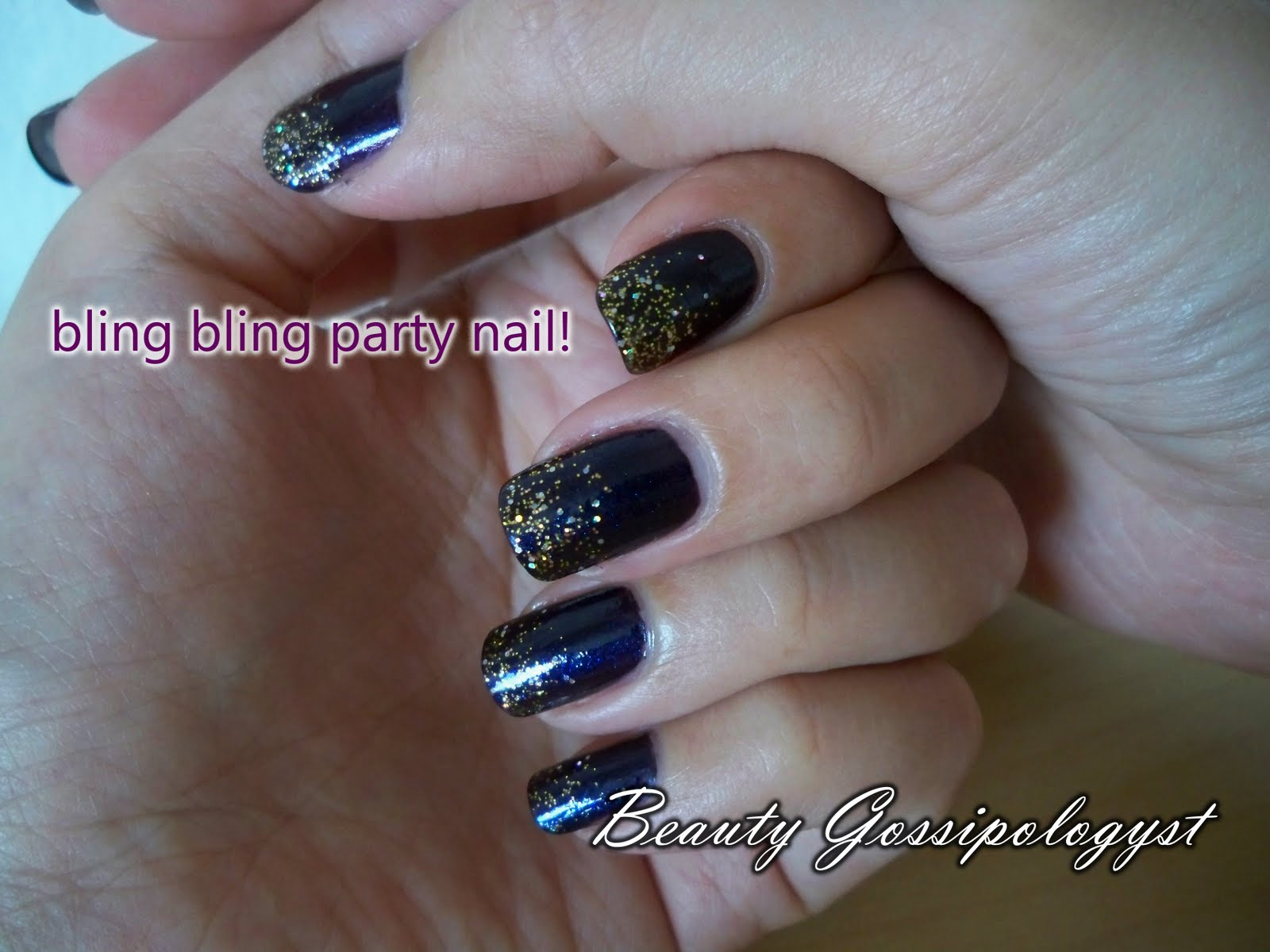 Beauty Gossipologyst: Nail: Let\'s get party! Glitter Purple Party Nail