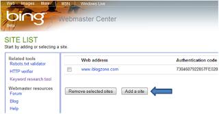 Bing Webmaster Tool Summary
