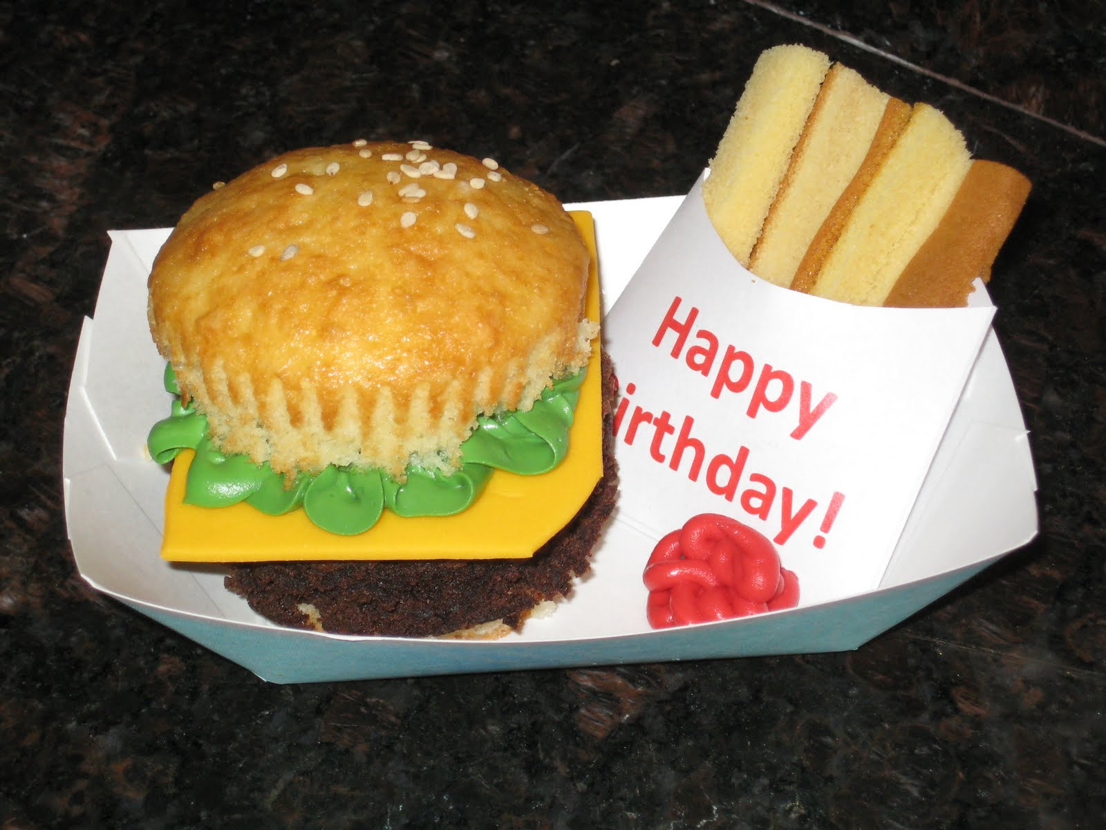 Hamburger Cupcakes With Pound Cake Fries Recipes — Dishmaps