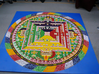 completed tibetan Sand mandala 
