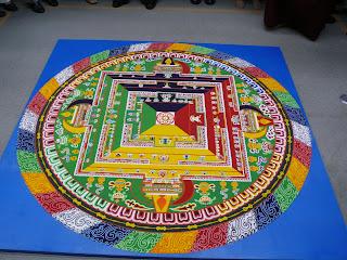 completed tibetan Sand mandala