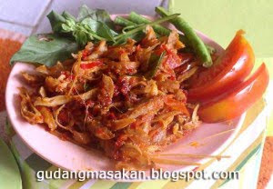 Resep Masakan Ayam Suwir Pedas