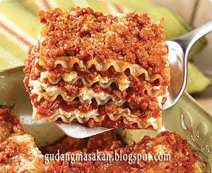 Resep Masakan Lasagna