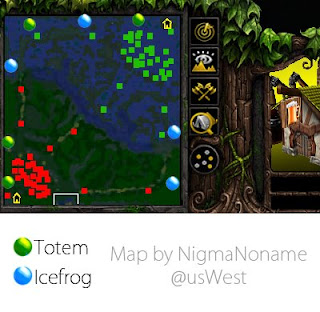 map of the Totem (Sentinel) and Icefrog (Icefrog)