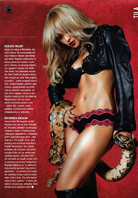 Americal Model Tila Tequila with Snake