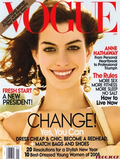 (Click on Pictures to Get Anne Hathaway Vogue Magazine Scans)
