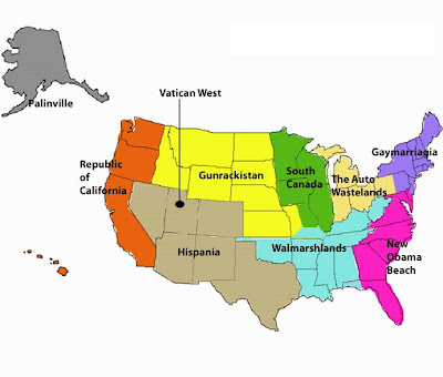 Common Mistakes Predicted Breakup Of US Into Separate Countries - Us breakup map