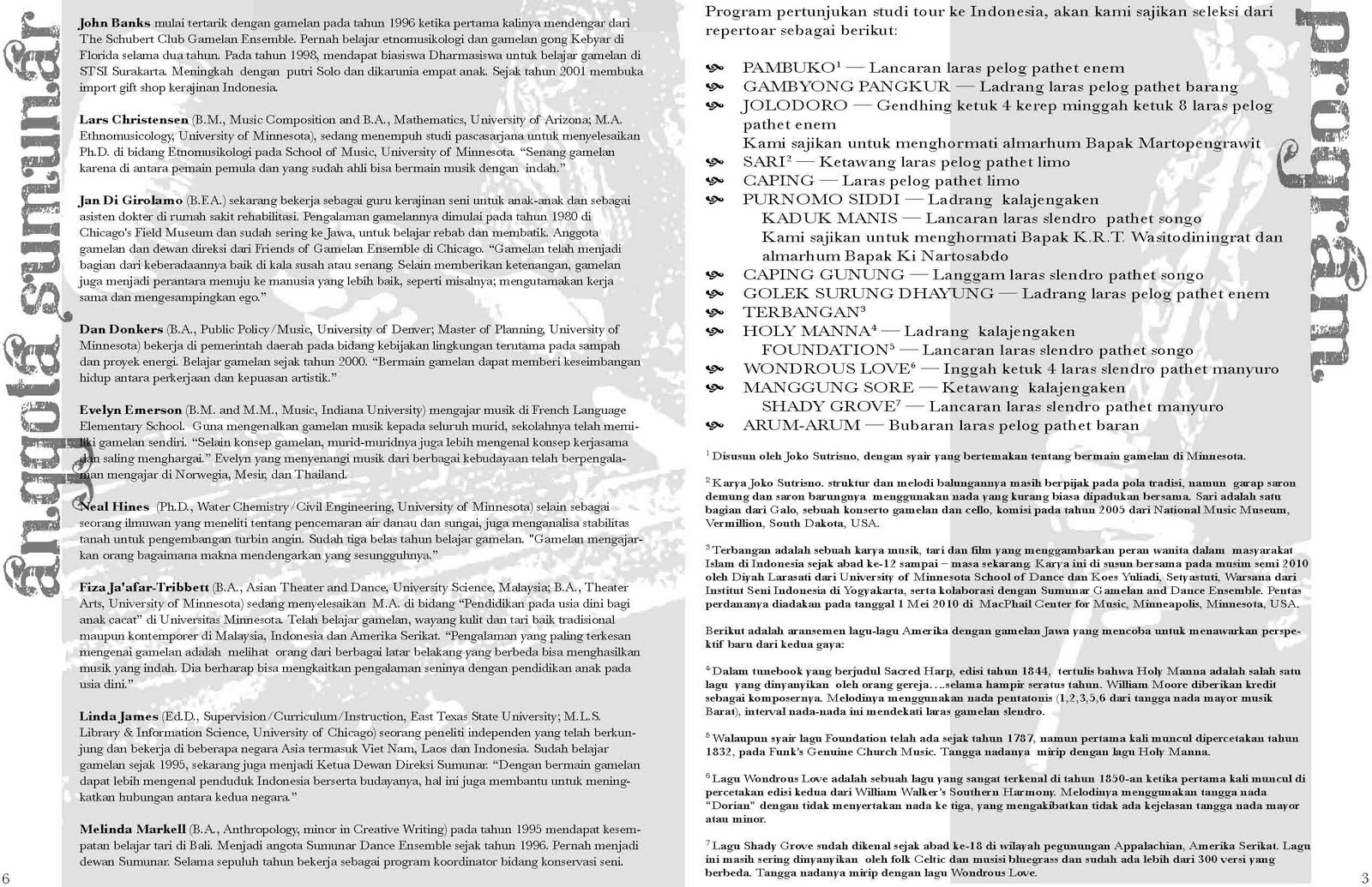 Latest Pro Bono Work For Sumunar For Their Study Tour To Indonesia This Is Their Fold Out Program