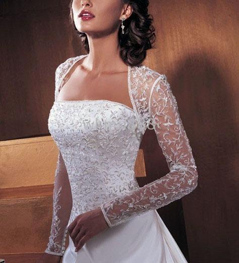 Peinados para novias con vestido manga larga