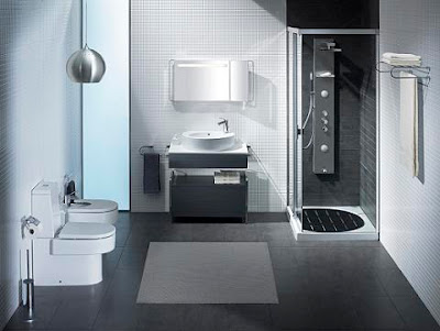 Modern and elegant White Gray Bathroom Design