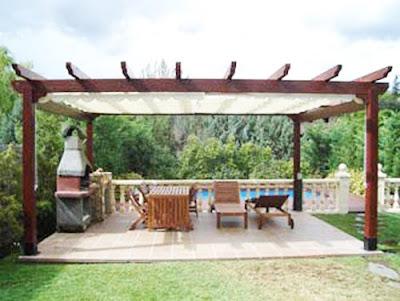 House decoration pergolas and places to be in the garden - Pergolas para jardines ...