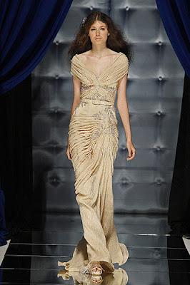Famous Designer Classical Taffeta With Lace Dress(MA-618)