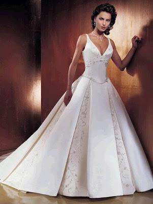 Stoffe für Brautkleider