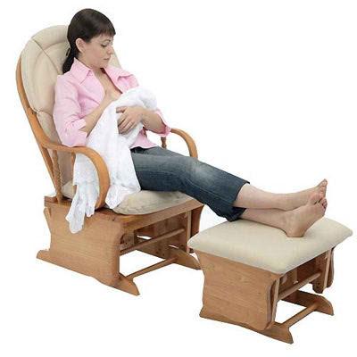 Los muebles b sicos en el dormitorio del bebe decoracion - Silla mecedora de lactancia ...