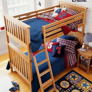 Literas para ni os kids room bunkbeads from land of nod decoracion de salones - Literas para jovenes ...