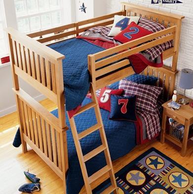 Literas para ni os kids room bunkbeads from land of nod - Literas para bebes ...