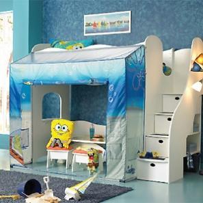 Dormitorios tem ticos para ni os de bob esponja y dora la exploradora decoracion endotcom - Dormitorios infantiles tematicos ...
