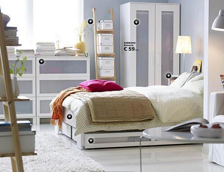 Ikea nos muestra sus dormitorios decoracio nesdotcom for Dormitorio ikea blanco