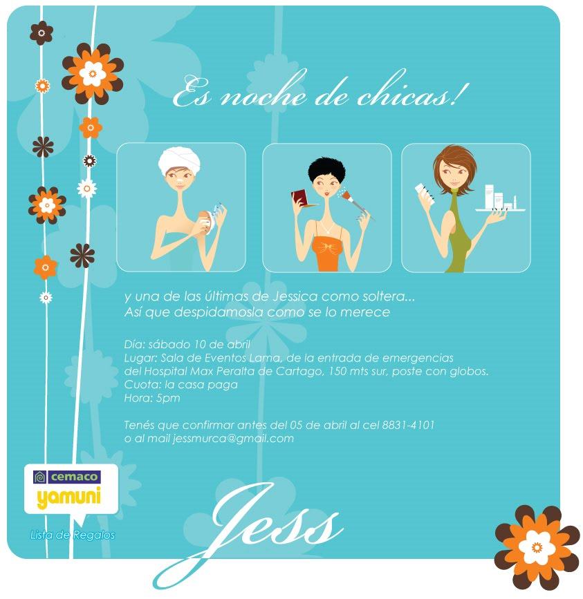 Esta es la invitación de una gran gran amiga Jess, que me dejo hacer ...