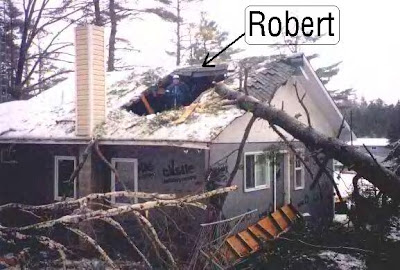 Hi Robert ... sorry about the giant hole in your roof, but you had it coming. My whole yard is dead from the jelly filling of your attack on Hollydale!