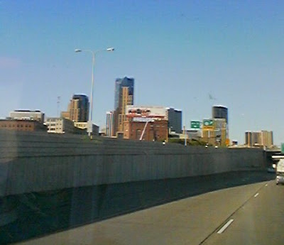 St Paul skyline from the freeway