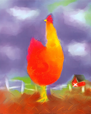 Chicken Art Bright
