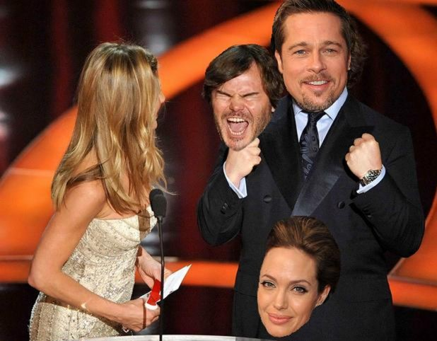 81st Annual Academy Awards, Brad Pitt, Jack Black, Angelina Jolie, Jennifer Aniston