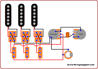 the guitar wiring blog diagrams and tips 2010 my favourite thing in this wiring is a separate control for every pickup you can some schematic of this thing easily by searching online