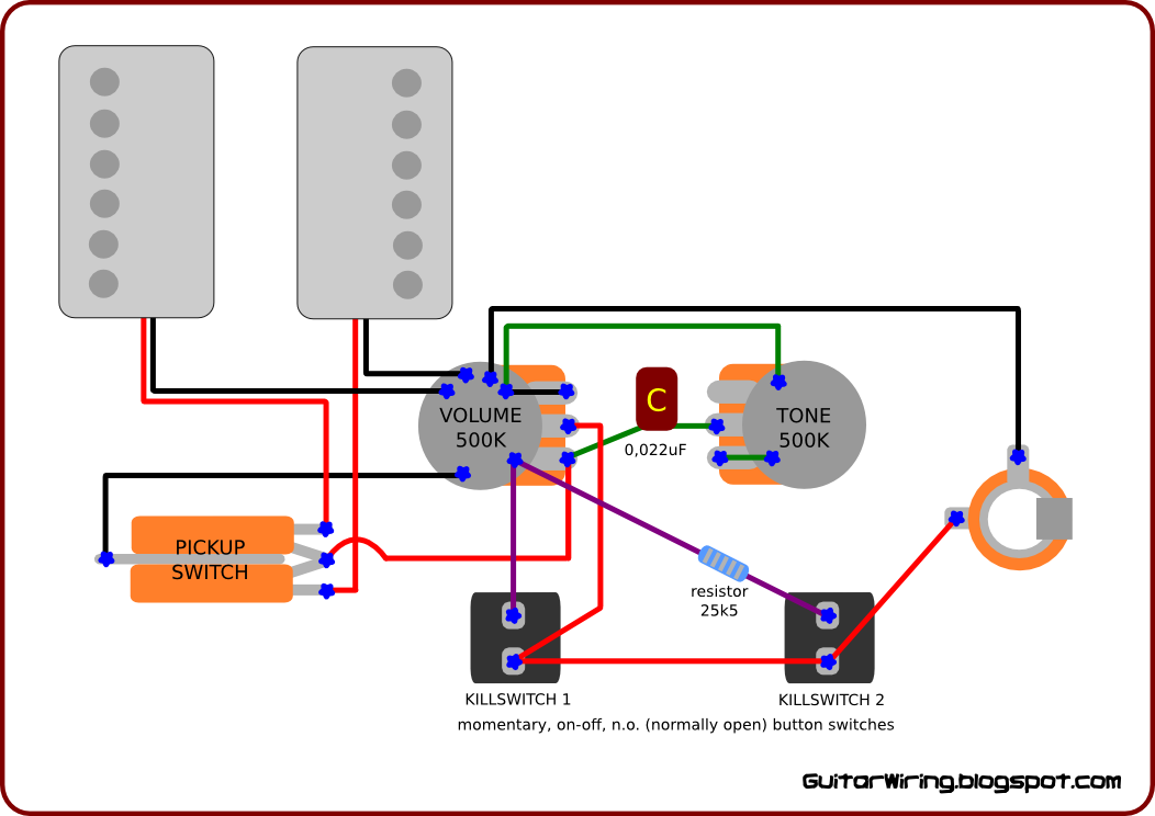 Wiring diagram for a guitar kill switch wiring diagram kill switch guitar cheapraybanclubmaster Images