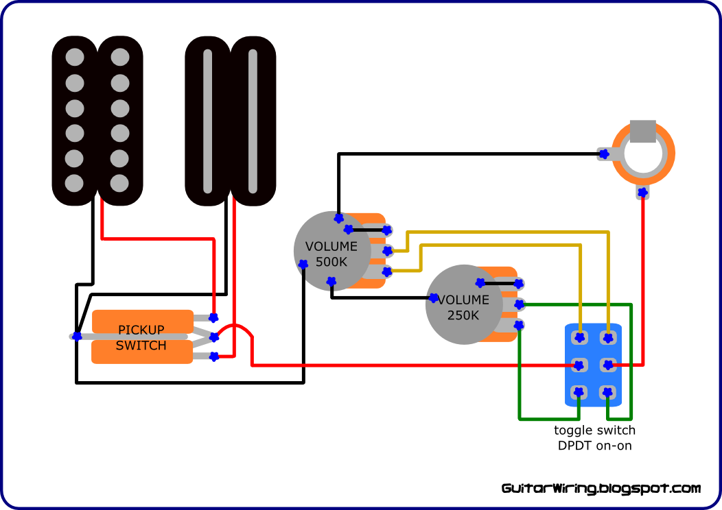 The guitar wiring blog diagrams and tips custom wiring for on dean guitar wiring diagrams 2 humbucker 2 volume 2 tone wiring Dean Wiring Schematic