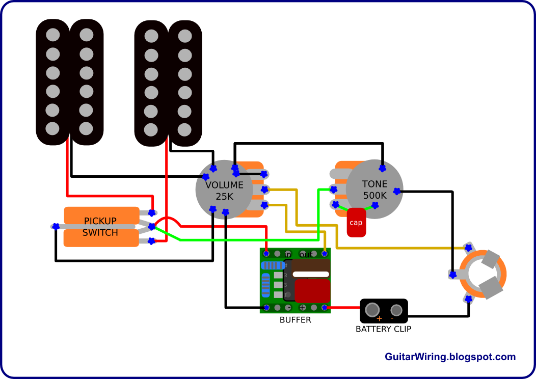The Guitar Wiring Blog - Diagrams And Tips  Semi-active Guitar Wiring