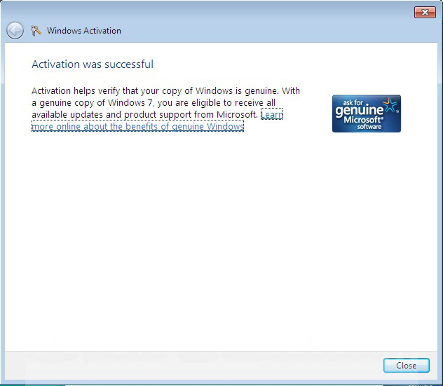the windows 7 product key is invalid for activation