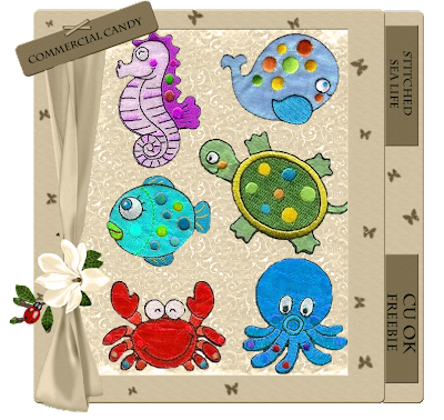 Stitched Animals - By: Commercial Candy CCandy-stitched+sea+life