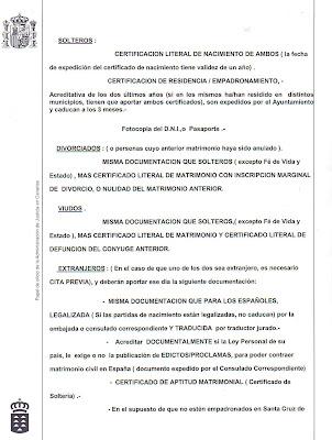 Inmigraci n una oportunidad requisitos para la tramitaci n del expediente de matrimonio civil - Requisitos para casarse ...