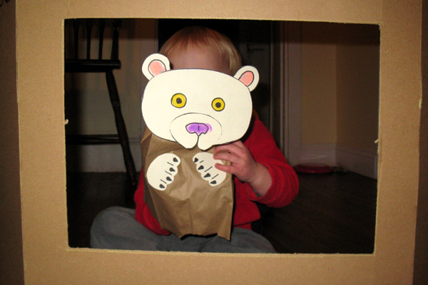 Give Your Octopus a Paintbrush (or 8): Polar Bear Paper Bag Puppet