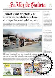 """foto de portada """"La Voz de Galicia"""""""