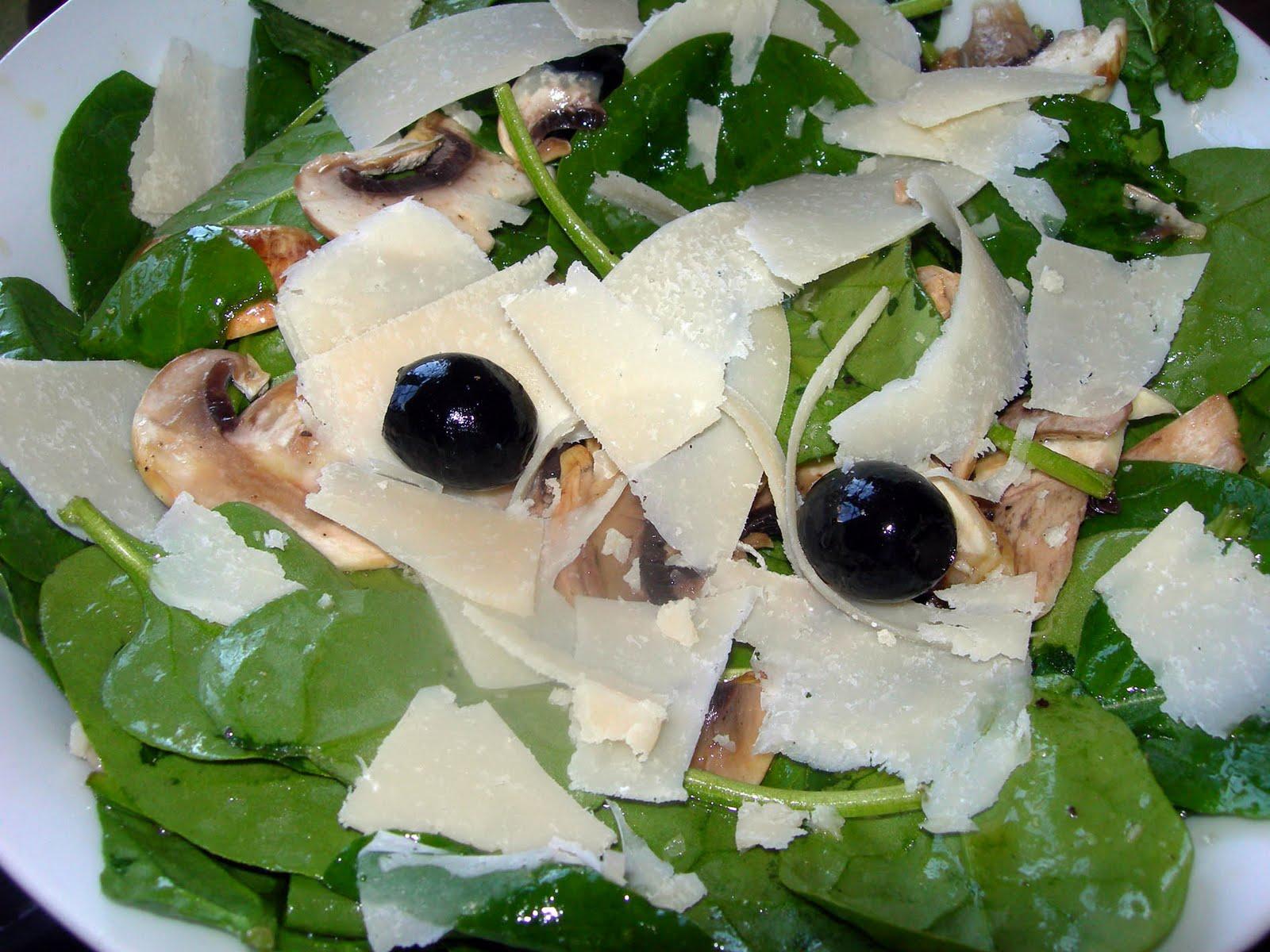 ensalada de espinacas y champi ones paso a paso cocinando entre rh cocinandoentreolivos com
