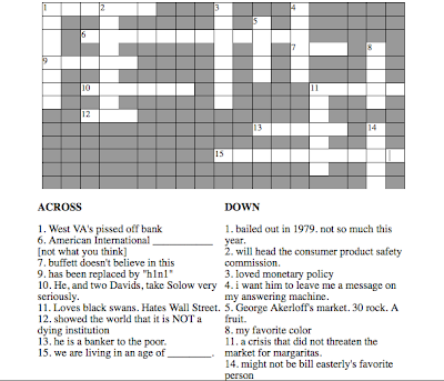 esther + economics = esthernomics!: First Crossword Puzzle!