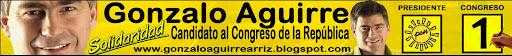 Gonzalo Aguirre - Congresista     Solidaridad    Nacional   Nº1