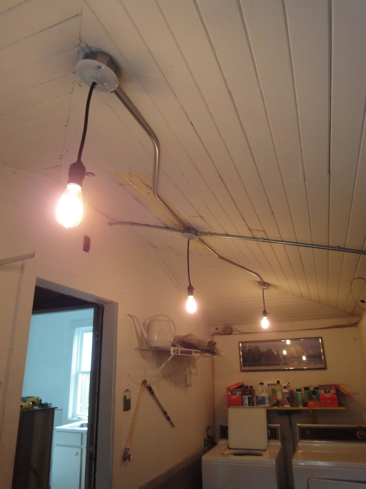1900 Farmhouse Pantry Lighting